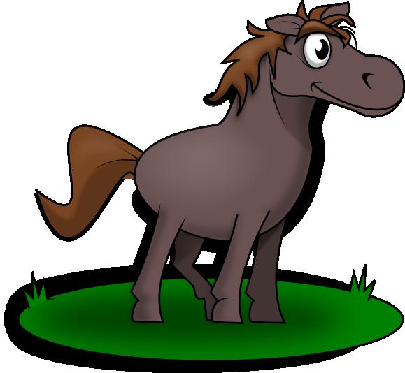 579x534 Free Cartoon Horse Clip Art