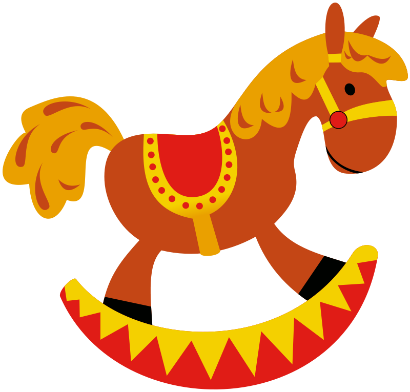 800x765 Free Rocking Horse Clip Art