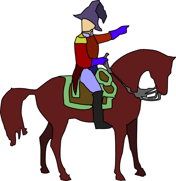 582x598 Historic Soldier On A Horse Clip Art