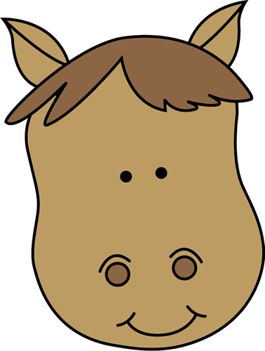 378x500 Horse Head Clip Art