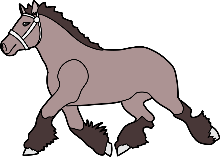 900x640 Horse Cartoon Clip Art