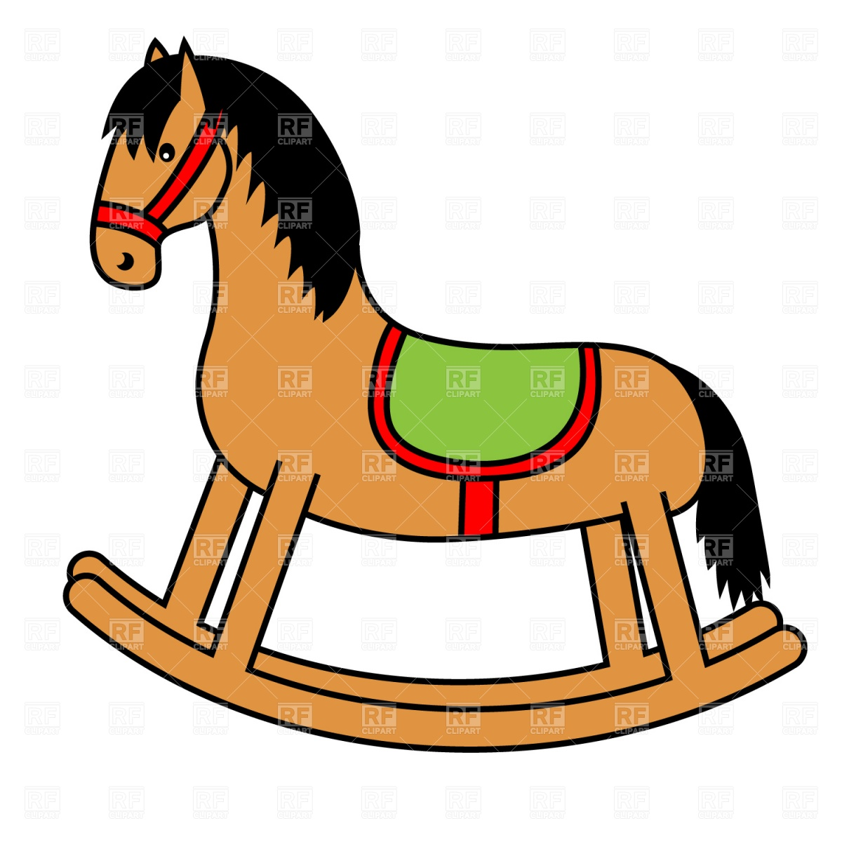 1200x1200 Rocking Horse Royalty Free Vector Clip Art Image