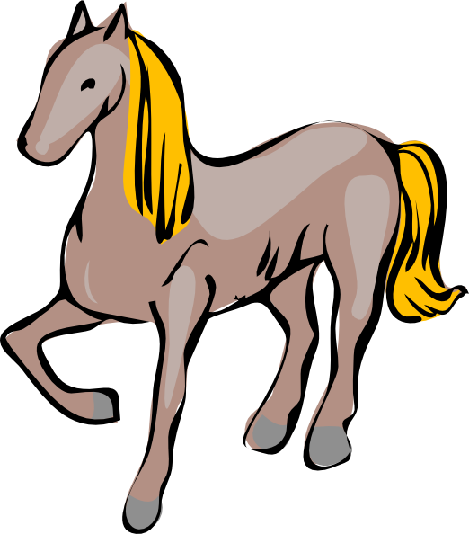 522x594 Cartoon Horse Clip Art