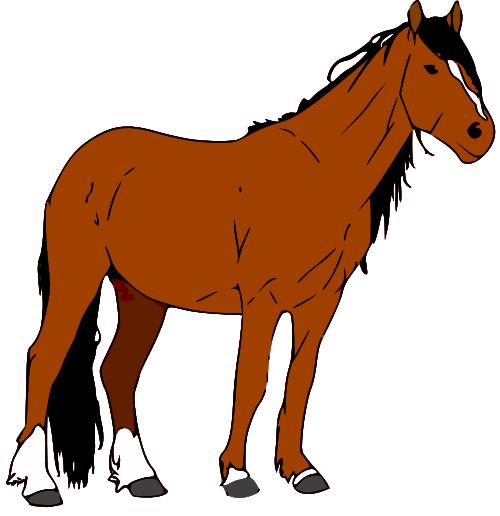 500x516 Cartoon Rocking Horse Clip Art