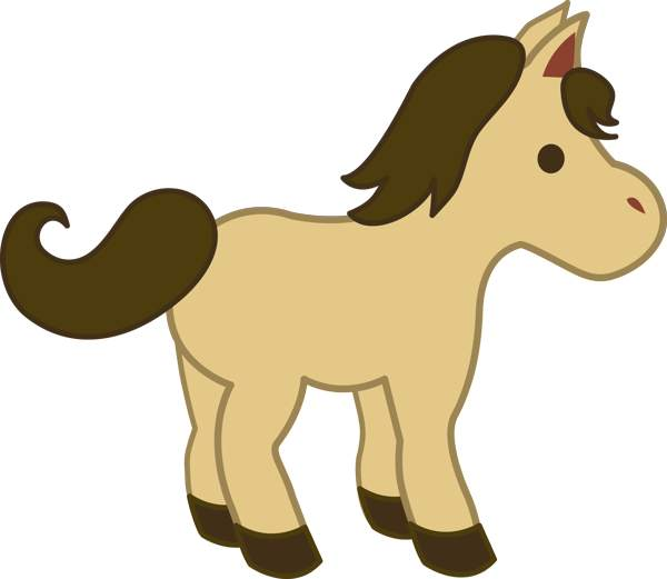 600x521 Cartoon Clipart Horse