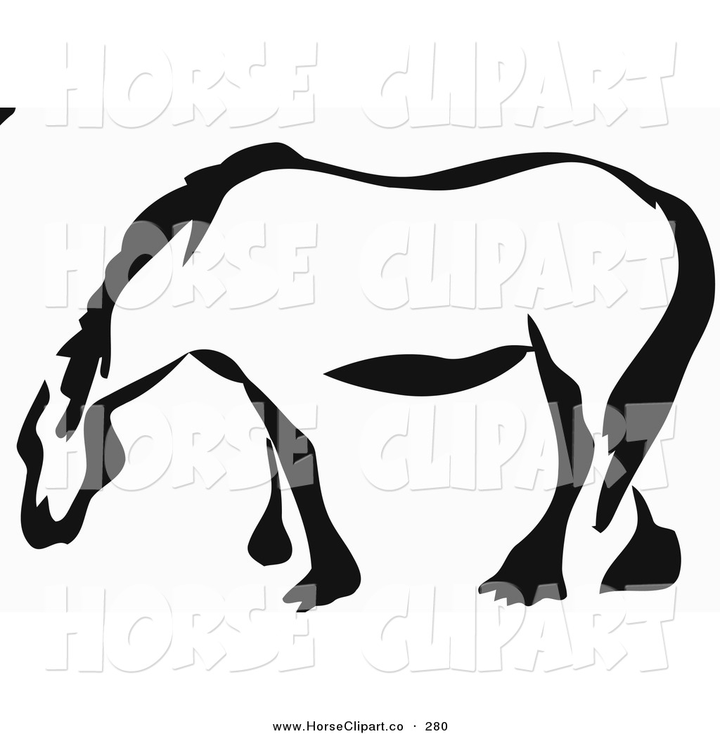 1024x1044 Clip Art Of A Black And White Paintbrush Stroke Styled Draft Horse