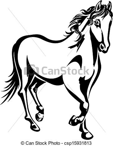 363x470 Horse Black And White Clipart