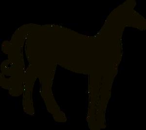 300x267 6349 Draft Horse Silhouette Clip Art Public Domain Vectors
