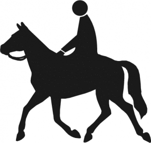 300x284 Horse Riding Clipart Black And White