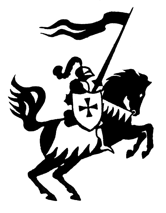 538x690 Knight On Horse Clipart Black And White