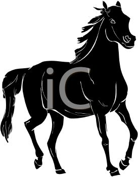 273x350 Picture Of A Black Horse In A Vector Clip Art Illustration