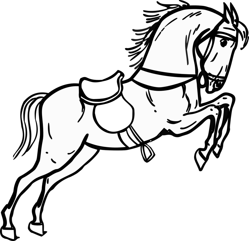 830x805 Best Horse Clipart Black And White