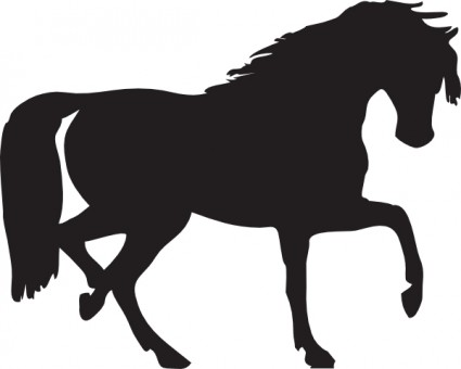 425x340 Horse Silhouette Clip Art Free Vector In Open Office Drawing Svg