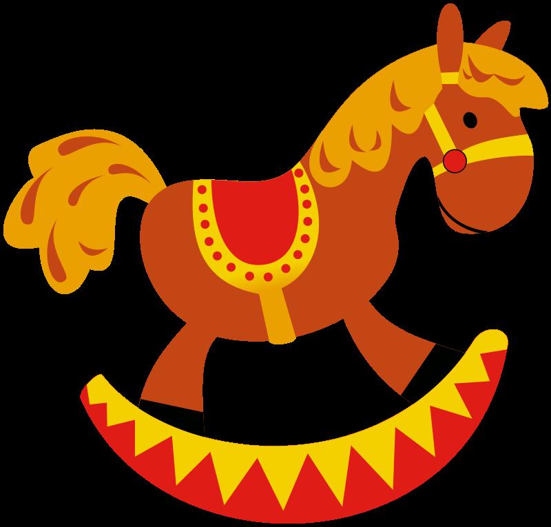 800x765 Rocking Horse Clip Art