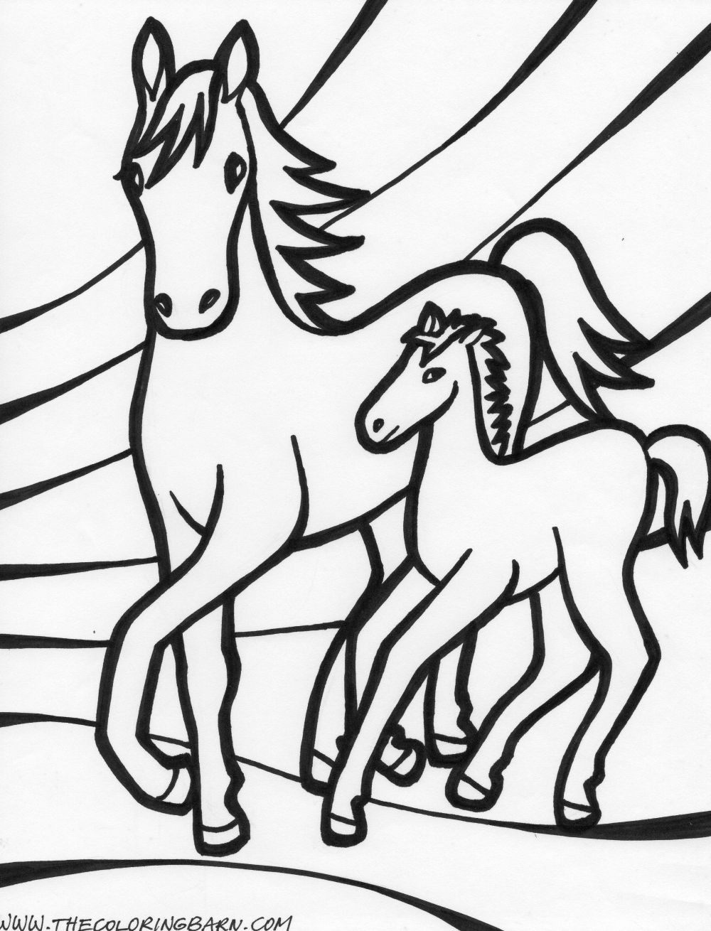 1000x1310 Horse Coloring Page