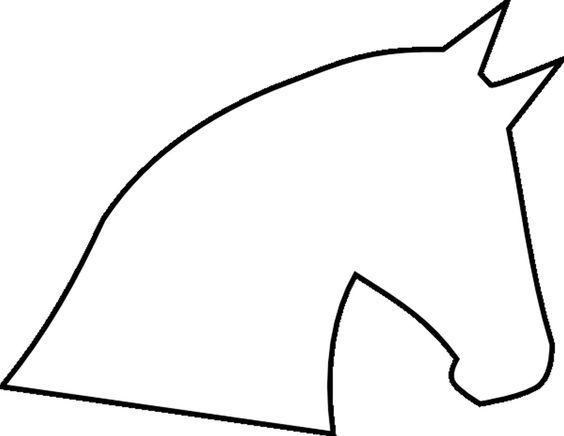 564x436 Horse Head Outline Template (Click Here To Download Horse Head