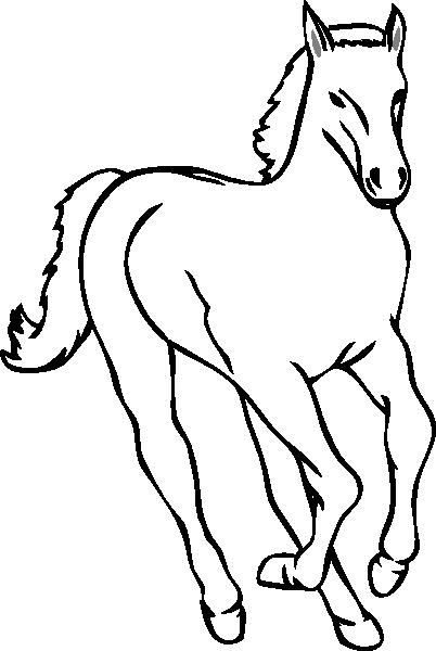 402x600 Horse Outline Clip Art