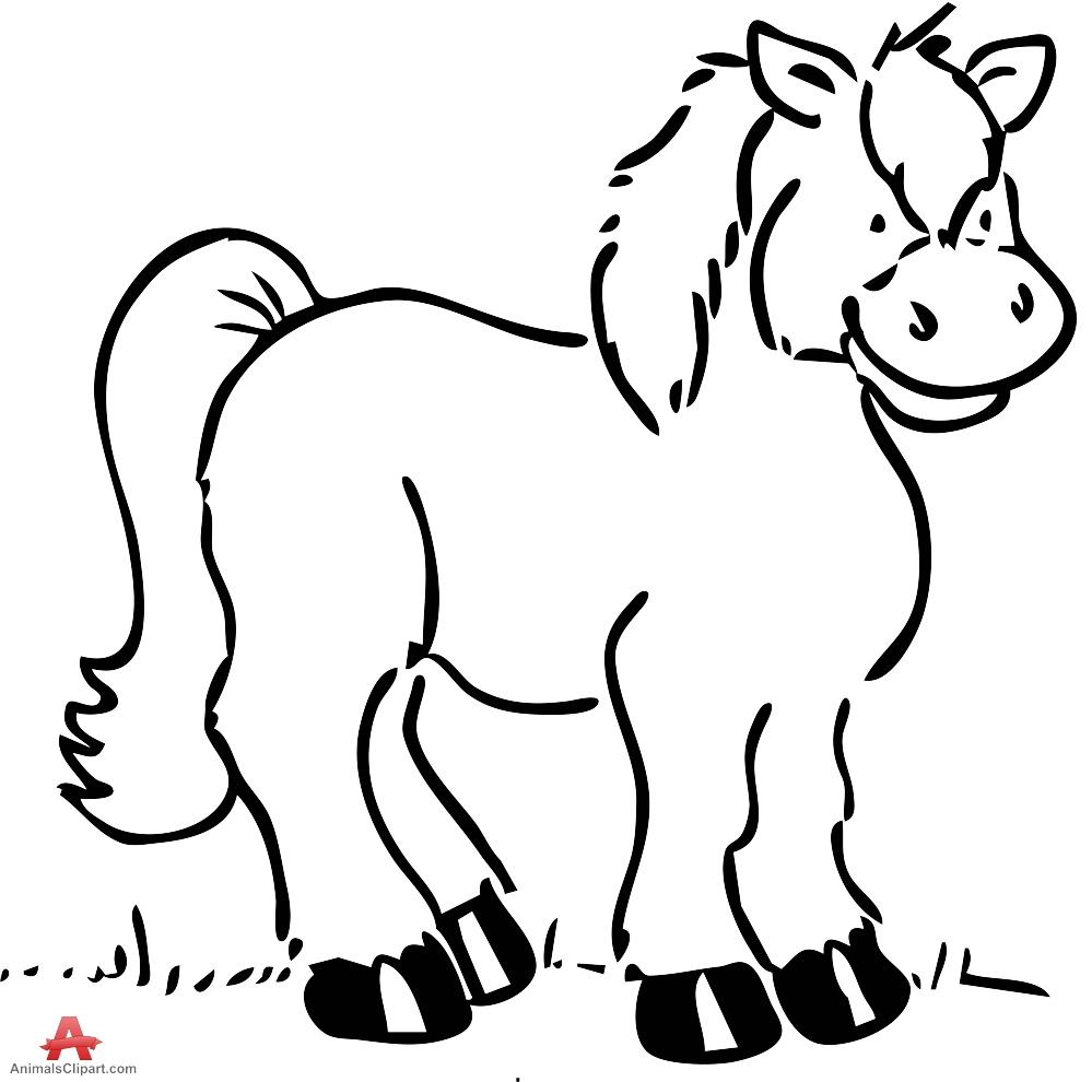 999x990 Horse Clipart Outline Drawing