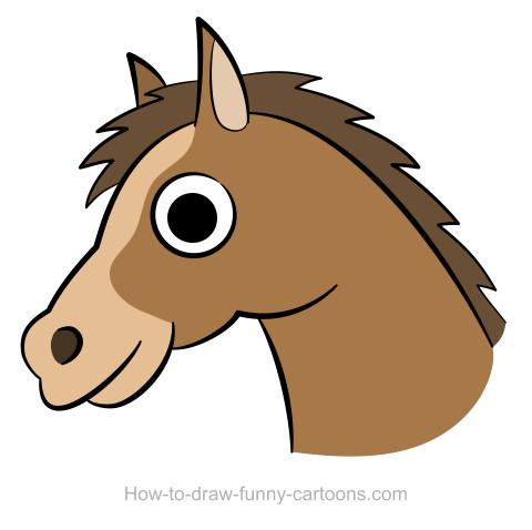 480x478 Horse Head Drawing (Sketching + Vector)