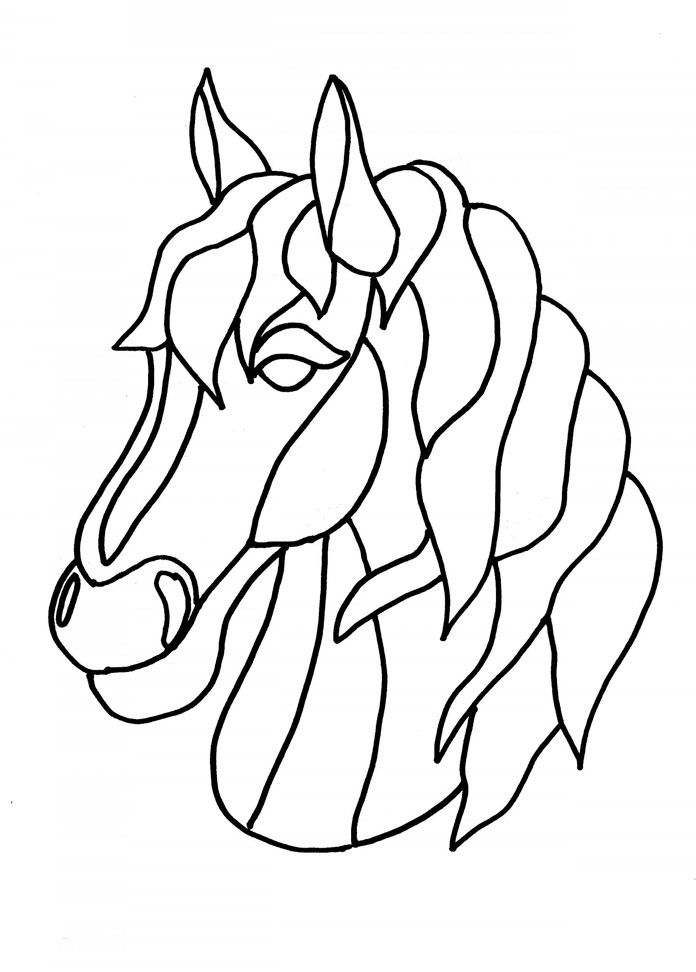 696x972 How To Draw A Detailed Horse Head Gallery