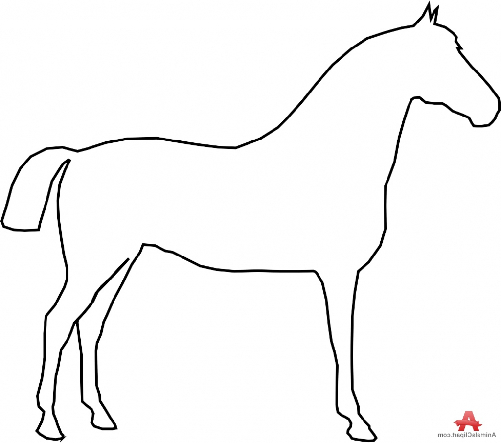 1024x905 Simple Drawing Of A Horse Simple Outline Horse Drawing Free