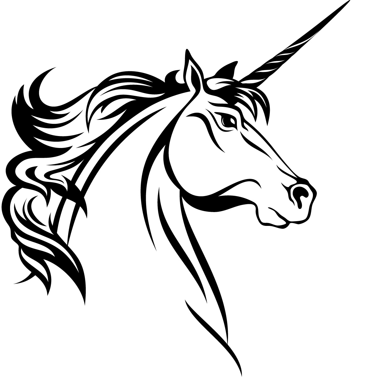 1200x1200 Drawn Horse Unicorn