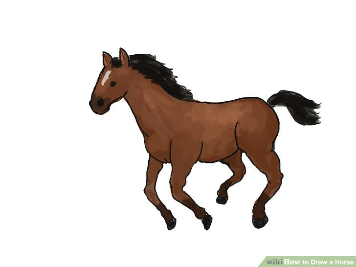 728x546 4 Ways To Draw A Horse