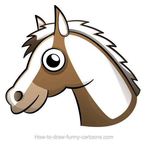 480x478 Horse Head Drawing (Sketching + Vector)