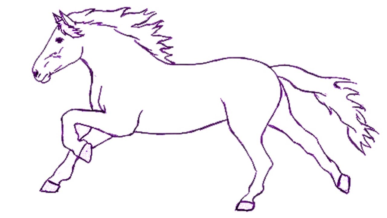 1280x720 how to draw a horse step by step draw a horse easily for kids