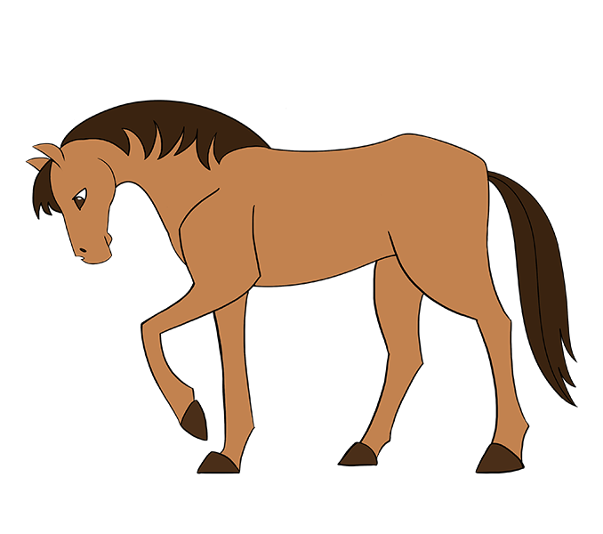 678x600 How To Draw A Simple Horse Easy Drawing Guides