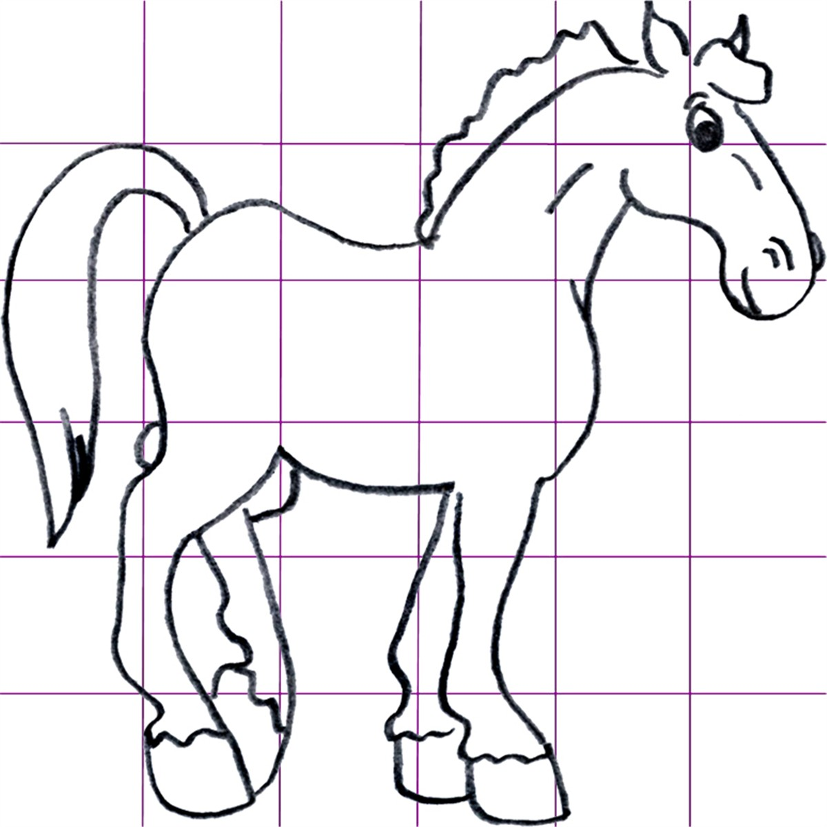 1200x1200 Draw Cartoon Horses
