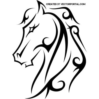340x340 Horse Head Vectors Download Free Vector Art Amp Graphics