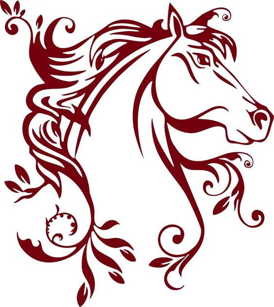 564x631 The Best Horse Silhouette Ideas Horse Stencil
