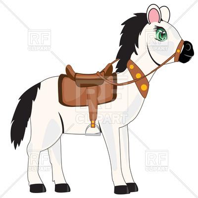 400x400 Cartoon Horse Royalty Free Vector Clip Art Image