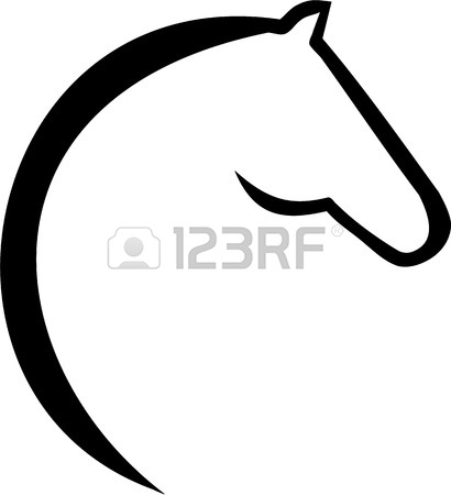 Horse Head Clipart Black And White