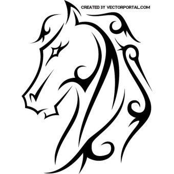 Horse Head Line Art