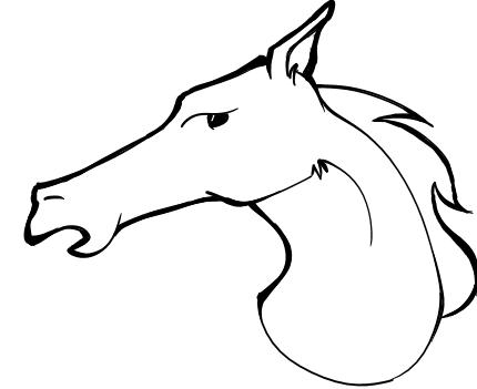 430x351 Horse Head