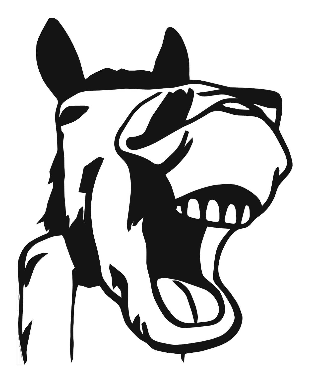 Horse Head Line Drawing | Free download best Horse Head Line