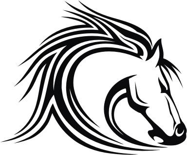 384x317 Mustang Horse Head Clip Art