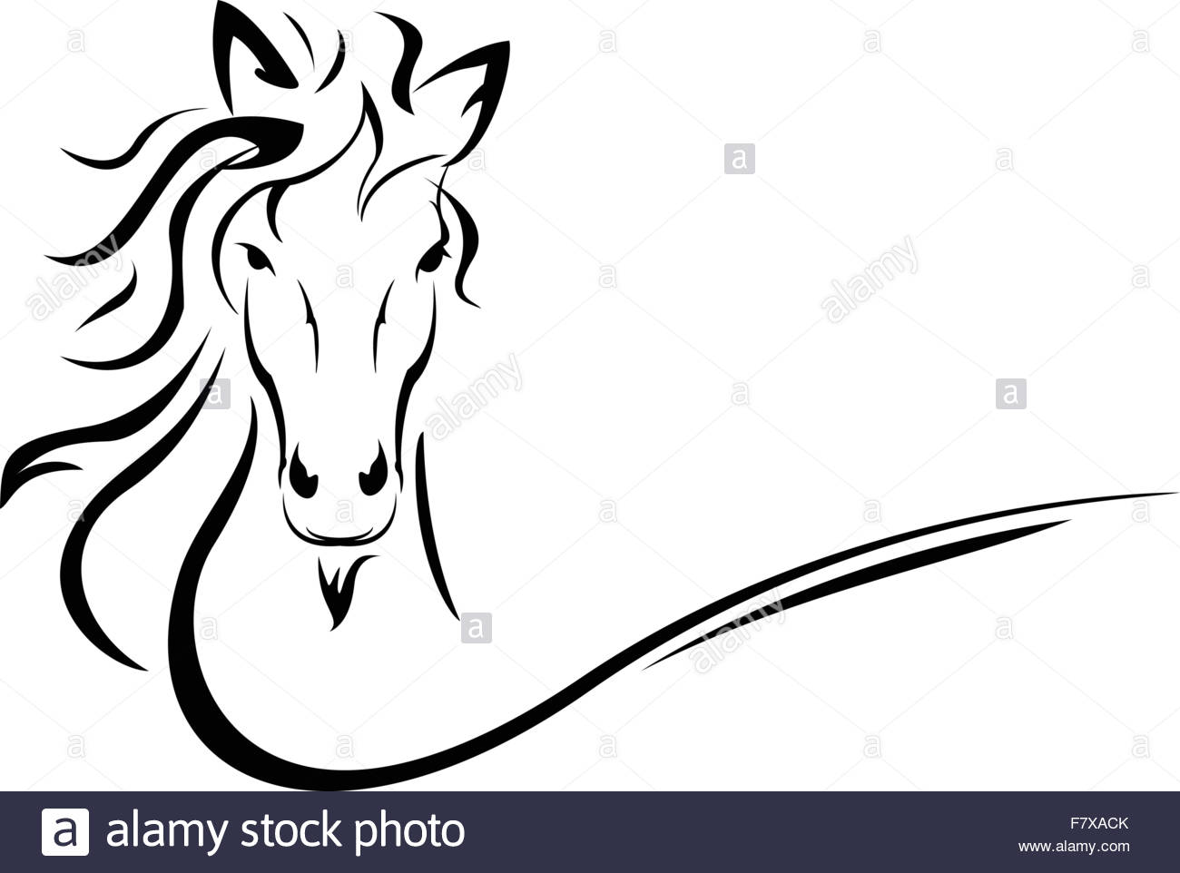 1300x962 Horse Head Vector Stock Vector Art Amp Illustration, Vector Image