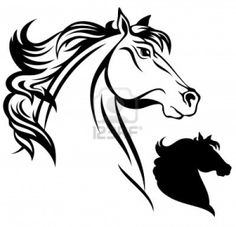 236x227 Clipart Of Horse Outline Horse Head Outline Horses Stickers