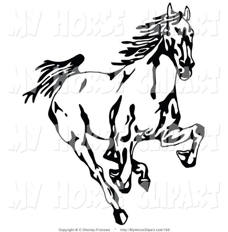 Horse Heads Clipart