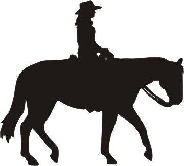 Horse Jumping Silhouette Clipart
