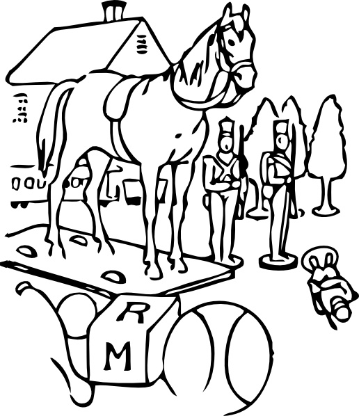 Horse Outline Clipart