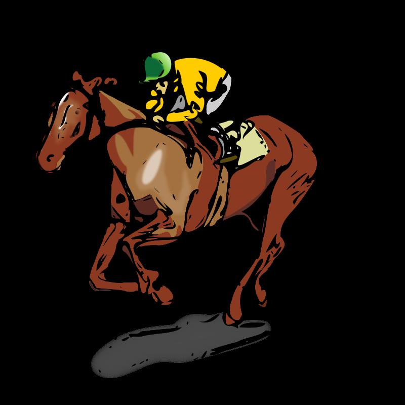 800x800 Horse Racing Clipart
