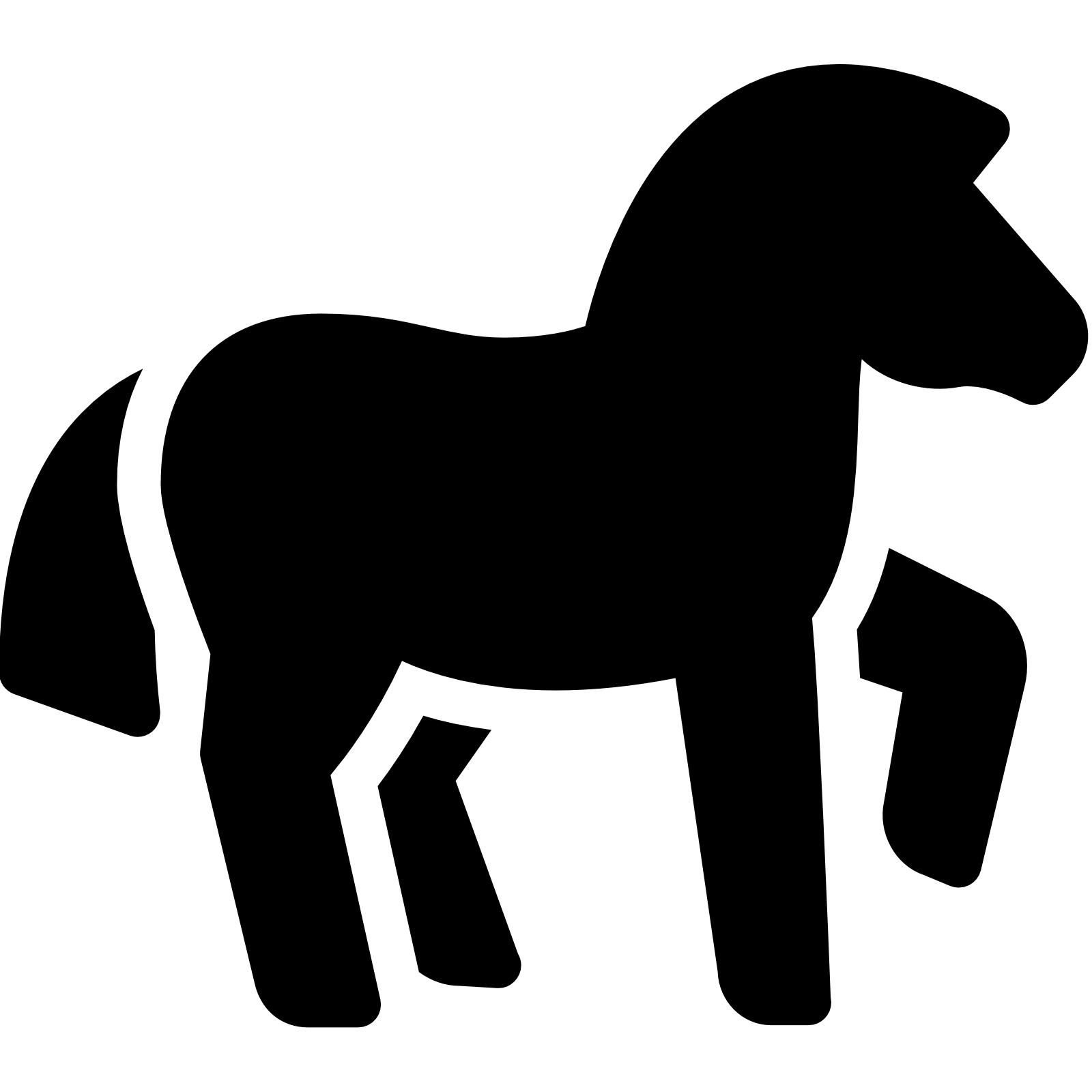 1600x1600 Horse Racing clipart animal tail