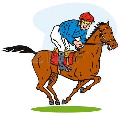 400x381 Thoroughbred Horse Racing Clip Art – Cliparts