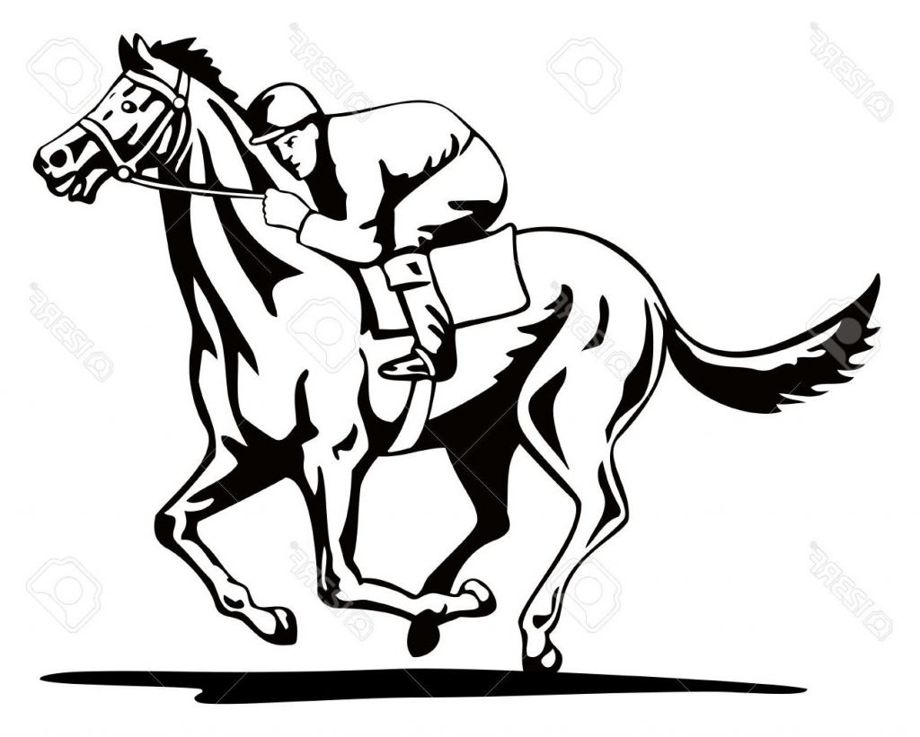 1024x821 Unique Horse And Jockey Stock Vector Racing Images