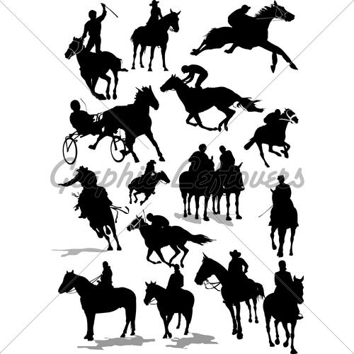500x500 Deron#39s Gallery clip art horse race