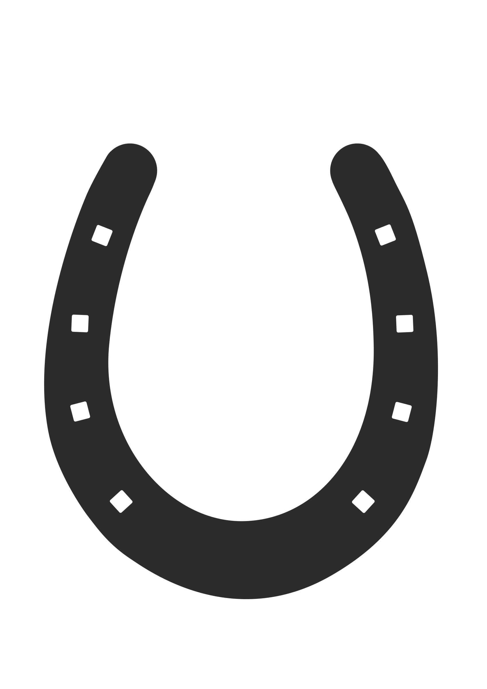 1697x2400 Horseshoe Clipart Transparent